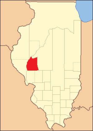 Morgan County, Illinois - Image: Morgan County Illinois 1823