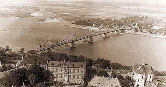 Bridges in Kiev - Yevheniya Bosh Bridge. Photo of the 1930s.