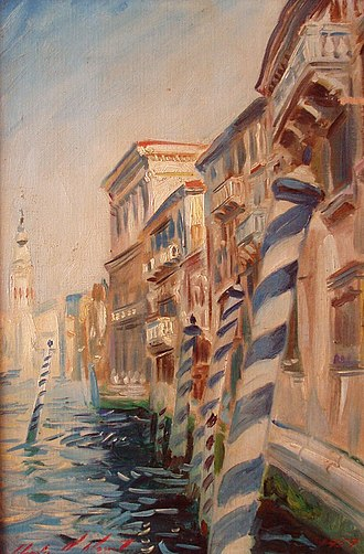 Charles Mount - Charles Mount, Painting of Venetian canal, oil on canvas, 1960