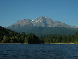 Lake Siskiyou - with Mount Shasta in the distance.