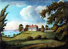 Painting of Mount Vernon by Francis Jukes
