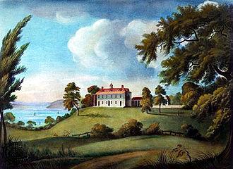 Alexander Robertson (artist) - Mount Vernon, after Alexander Robertson, aquatint by Francis Jukes, circa 1800
