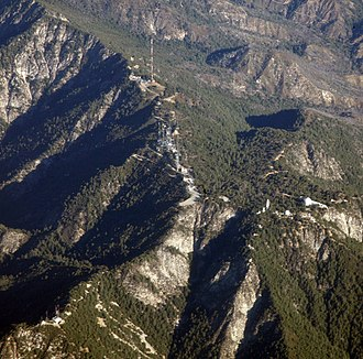 Mount Wilson (California) - Mount Wilson aerial photo, showing Radio Ridge antenna farm and the Observatory. Photo by Doc Searls.