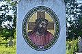Mozaikos sír a csátaljai temetőben.JPG