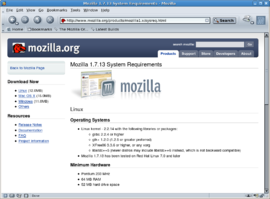 Screenshot di Mozilla Application Suite