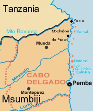 Cabo Delgado Province - Provincial map