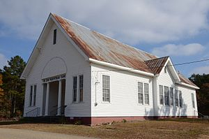 National Register of Historic Places listings in Lincoln County, Arkansas - Image: Mt. Zion Presbyterian Church, Relfs Bluff, AR