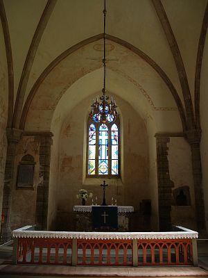 Muhu St. Catherine's Church - Image: Muhu Katariina kirik, altar