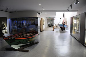 Poveiro (boat) - Poveiro boats preserved in the Ethnography and History Museum of Póvoa de Varzim