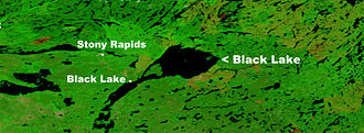 Black Lake, Saskatchewan - NASA map showing Black Lake