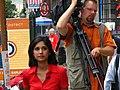 NBC 10 News reporter, Aditi Roy & Cameraman, Brian Wasiluski (2637075035).jpg