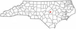 Location of Four Oaks, North Carolina