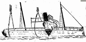 SS Kate (tug) - Raising of the SS Kate after its collision with the Paddle Wheel Manly Ferry Narrabeen