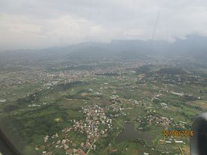 Nagdaha - Aerial view of Nagdaha, Dhapakhel, Nepal