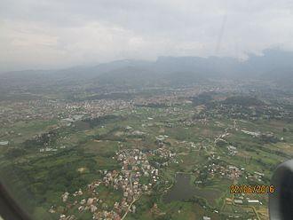 Dhapakhel - Aerial view of Dhapakhel, Nepal
