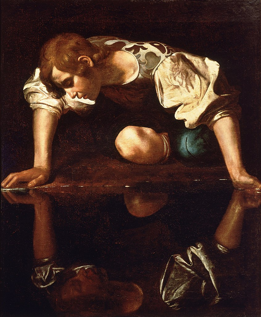 Narcissus poses for humanity's first recorded Selfie