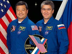 Leroy Chiao - NASA astronaut Leroy Chiao, left, and Russian cosmonaut Salizhan Sharipov served on Expedition 10 in the International Space Station.