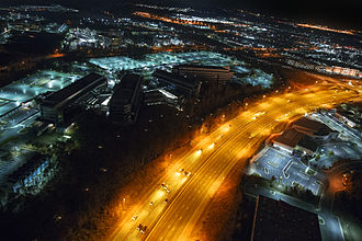 National Reconnaissance Office - NRO headquarters at night