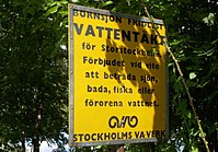 Bornsøen er Stockholms reservevandboring og blev skudt af Stockholm-Vand.
