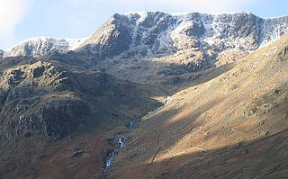 Nethermost Pike fell in Cumbria, England