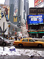 New York. Times Square. Taxi. Snowy (2805656944).jpg
