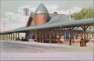 Newburyport station - The third (1892-built) Newburyport station in the early 20th century