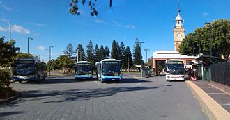 Newcastle railway station, New South Wales - Image: Newcastle railway station NSW Bus Terminal
