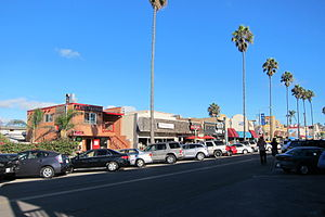 Ocean Beach, San Diego - Business district on Newport Avenue