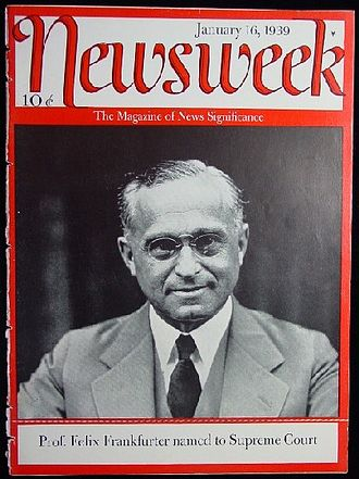 Newsweek - January 16, 1939, cover featuring Felix Frankfurter