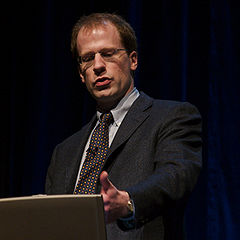 Nick Bostrom na konferencji Singularity Summit w 2006.