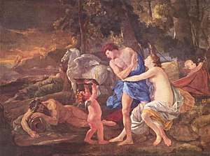 Cephalus - Cephalus and Eos, by Nicolas Poussin (circa 1630)