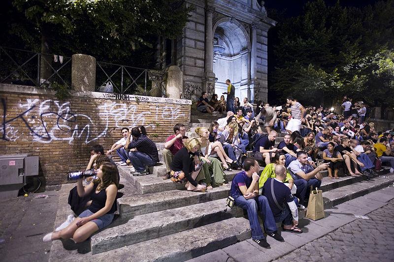 Piazza Trilussa à Trastevere, Rome - Photo de Jorge Royan
