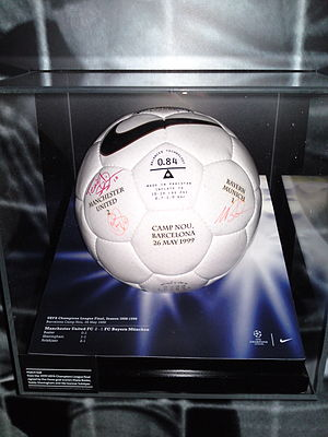 1999 UEFA Champions League Final - One of the Nike NK 800 Geo balls used for the final
