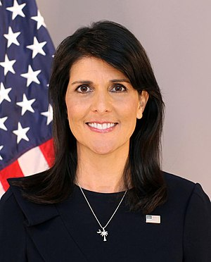 United States Ambassador to the United Nations - Image: Nikki Haley official photo