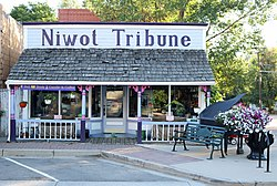 The old Niwot Tribune office on 2nd Avenue.