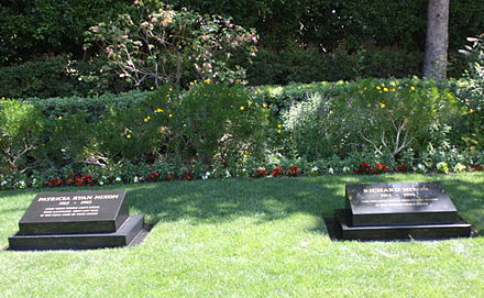 The graves of President Richard Nixon and First Lady Pat Nixon Nixon grave 2011.jpg