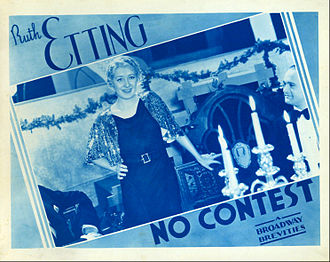 Ruth Etting - Lobby card from No Contest!, 1934