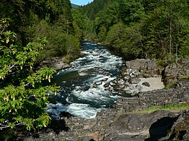 North Santiam River bij het Niagara County Park