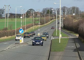 A47 road - The A47 in Normandy Way, Hinckley