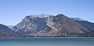 Elk Mountain (Teton County, Wyoming) - Elk Mountain at far right background with Owl Peak at center