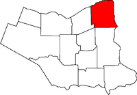 Location of Niagara-on-the-Lake in the Niagara Region