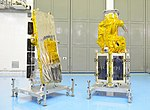 NovaSAR-1 and SSTL S1-4 satellites before integration with PSLV C42.jpg