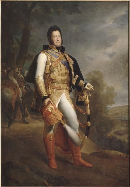 Noyal - Louis-Philippe Ier (1773-1850) duc d'Orléans en uniforme de colonel-général des Hussards, représenté en 1817