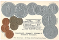 Numismatic post-card with contemporary coins - The Weimar Republic.png