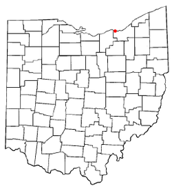 Location of Bay Village in Ohio