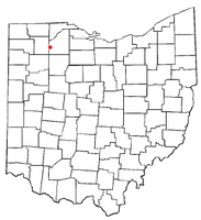 Location of Custar, Ohio
