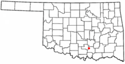 Location of Mill Creek, Oklahoma