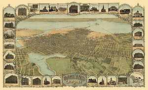 History of Oakland, California - Depiction of Oakland in 1900.