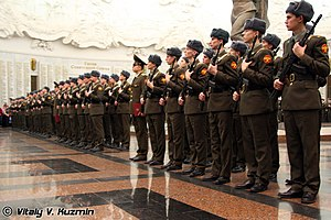 154th Preobrazhensky Independent Commandant's Regiment - Image: Oath taking ceremony for the 154th Independent Commandant's Regiment