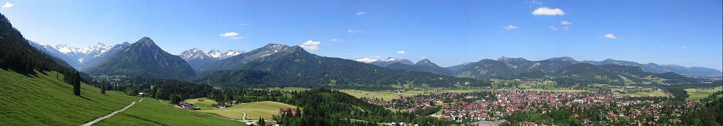 Panorama von Oberstdorf